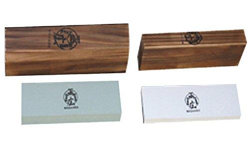 Handmade Sword - Masahiro Double Side Whetstone Rough 400 Medium 1000 Fine 3000 2pcs Swords Blade Sharpening Stone