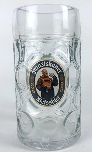 1 Liter Franziskaner Logo Glass Beer Stein