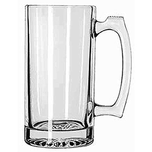SUPER LARGE 7 TALL X 35 WIDE GLASS STEIN  MUG 25 POUND HEAVY-DUTY 24 OUNCE THICK CLEAR GLASS HOTCOLD DRINKING STEIN MUG CUP TUMBLER USE FOR BEVERAGES LIKE COFFEE TEA BEER WATER SODA ETC