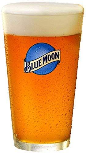 Blue Moon Beer Pint Glass  Set of 2 Glasses