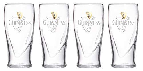 Guinness 20Oz Gravity Pint Glasses Sets 4 Pack