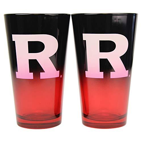 NCAA 16 oz 2-Tone Pint Glass Set Rutgers Scarlet Knights