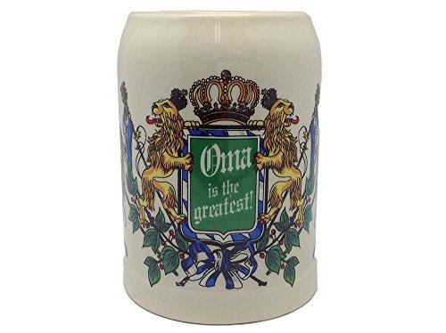 Ceramic Beer Stein German Gift For Oma 5 Liter Large Beer Stei