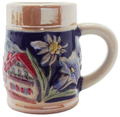 German Alpine Village Ceramic Beer Stein Shot Glass-25
