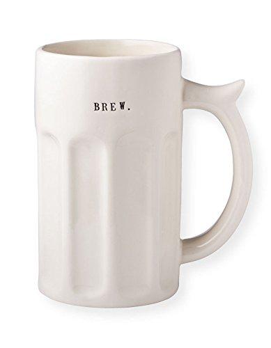 Rae Dunn Magenta Ceramic Beer Stein Mug ~ BREW