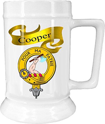 Scottish Clan Cooper on New Ceramic Beer Stein