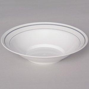 Masterpiece Plastic Soup Or Salad 10 Oz Bowls, White 15 Count