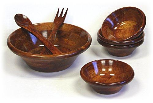 Mountain Woods 7 Piece Mahogany Salad Bowl Set