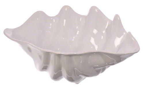 Update International Ssb-1w Shell Salad Bowl, 1-quart, White