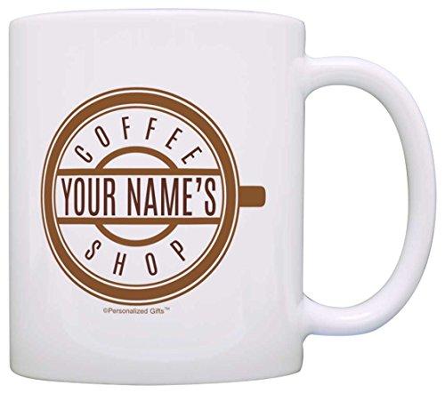 Custom Name Coffee Shop Gift for Coffee Lover Gift Coffee Mug Tea Cup White