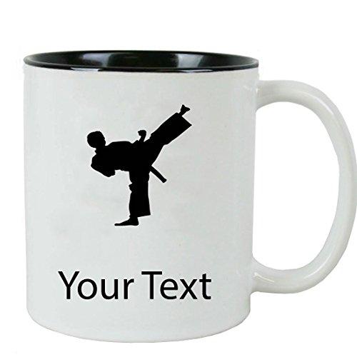 Personalized Custom Male Karate 11-Ounce White Ceramic Coffee Mug
