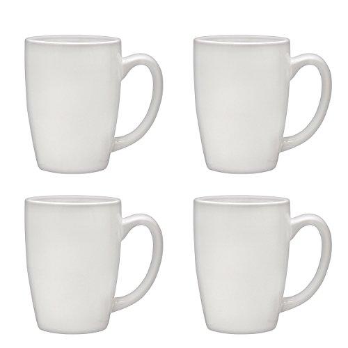 Culver Taza Ceramic Mug 16-Ounce Set of 4 White