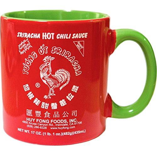 Large 20 oz Sriracha Hot Sauce Red And Green Ceramic Mug