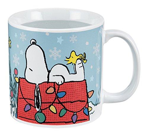 Vandor 85161 Peanuts Holiday 20 Ounce Heat Reactive Ceramic Mug Multicolored
