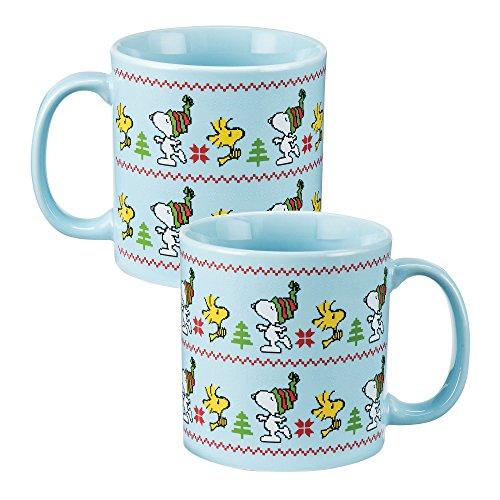 Vandor 85361 Peanuts Ugly Sweater 20 Ounce Ceramic Mug Multicolored