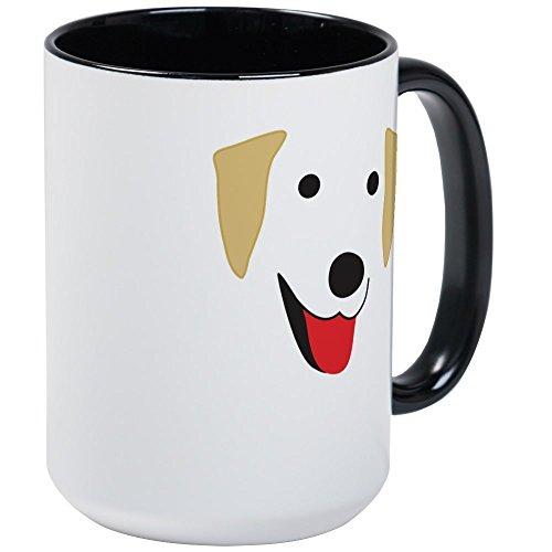 CafePress - Yellow Labs Face Large Mug - Coffee Mug Large 15 oz White Coffee Cup