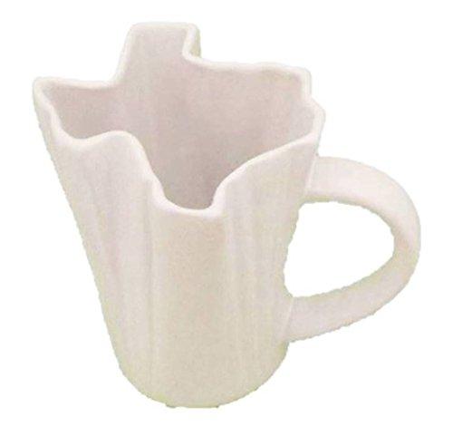Texas State Shaped White Coffee Cup Mug - 20 Ounce