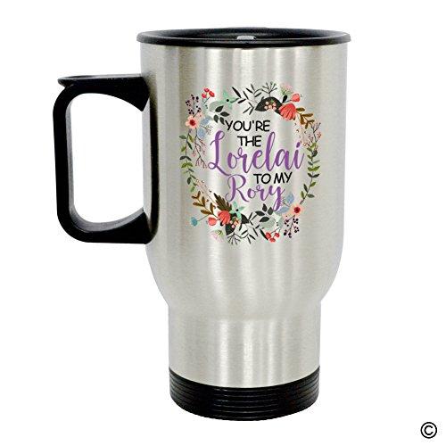 MsMr Personalized Travel Mug - Funny Quote Photo Mug - Youre The Lorelai To My Rory 14 Ounce Stainless Steel Travel Mug CoffeeTeaMilk Mug