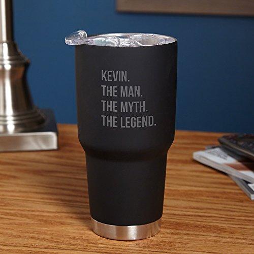 The Man The Myth The Legend Personalized Travel Mug - Black Customizable Product