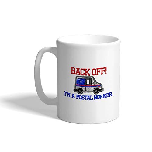 Custom Coffee Mug 11 Ounces Back of IM A Postal Worker Mailman Gift Ceramic Tea Cup Design Only