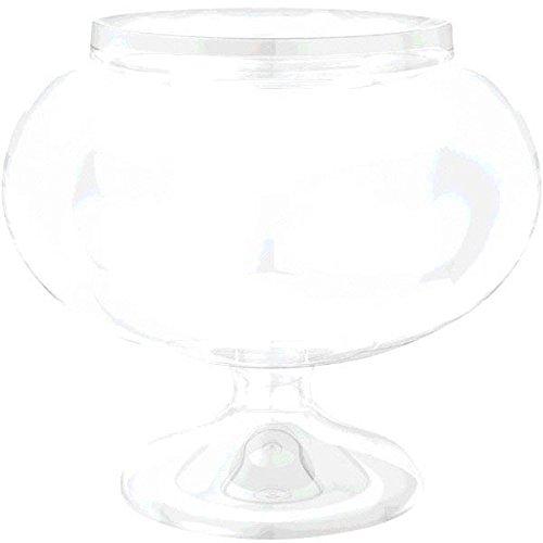 Amscan 1 Count 6-14 Round Plastic Pedestal Plastic Jar Short Clear
