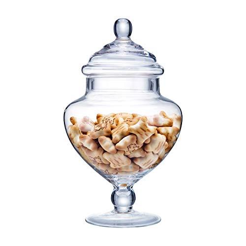 Diamond Star Clear Glass Apothecary Jars Candy Buffet Display Elegant Storage Jar Decorative Wedding Candy Organizer Canisters Height 9 Body 5