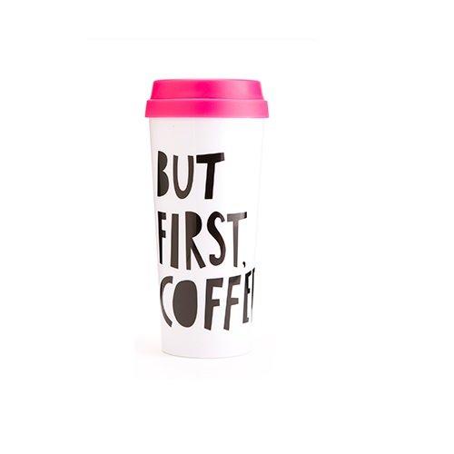 Bando 40735 Hot Stuff Thermal Mug But First Coffee