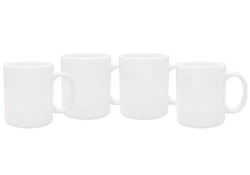 Culver 11-Ounce Hampton Ceramic Mug White Set of 4