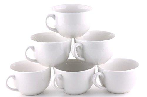 Oxford Gourmet Extra Large Mug Set of 6- Pure White