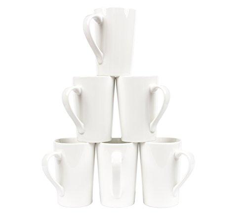 Oxford Gourmet Tall Mug Set of 6- Pure White