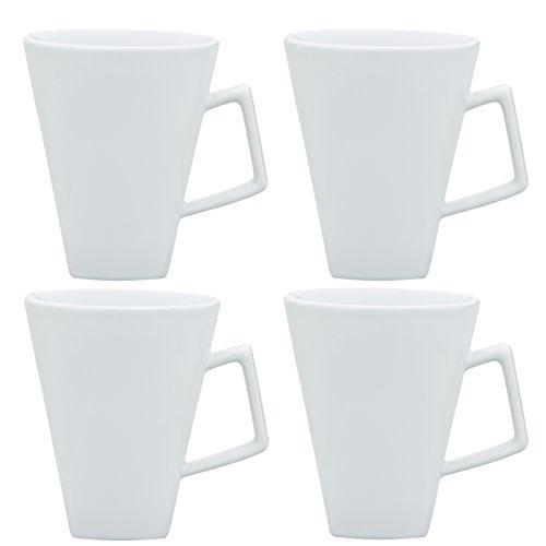 Oxford Quartier Mug- set of 4 Pure White