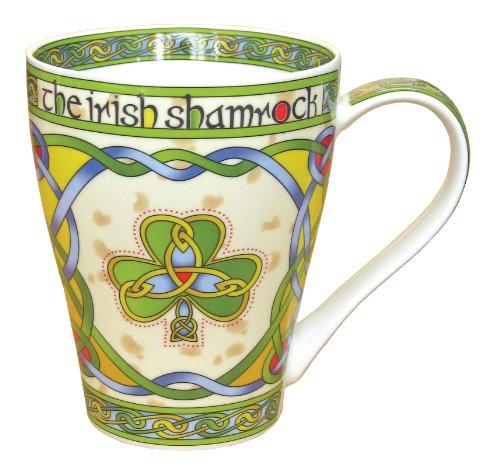 Irish Shamrock China Mug - an Irish gift designed in Galway Ireland by Irish Weave by Royal Tara
