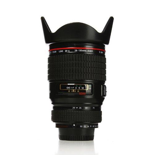 Homade Realistic SLR Camera Lens Mug Black