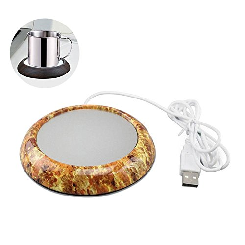 Coffee Mug Warmer USB Desktop Cup Warmer Electric Tea Beverage Heater with Aluminum Plate for Office Home Marble
