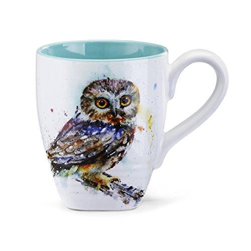 Big Sky Carvers Saw Whet Owl Mug Multicolor