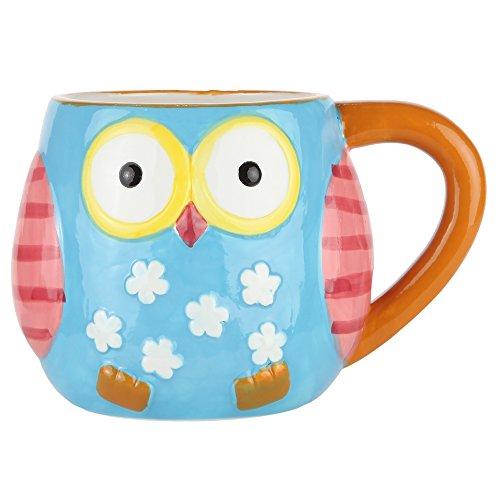 Home-X Colorful Ceramic Owl Mug