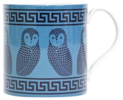 Jonathan Adler Carnaby Greek Key Owl Mug