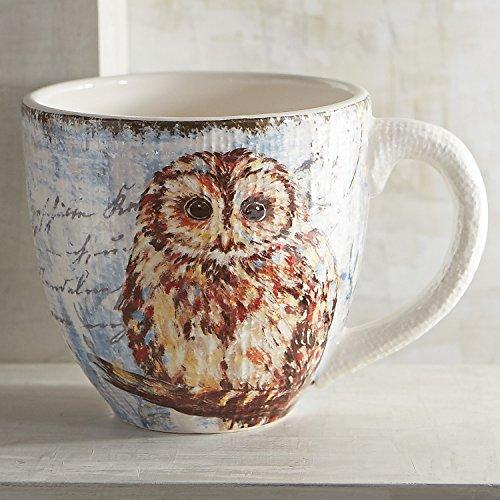 Pier 1 Imports Natural Owl Mug