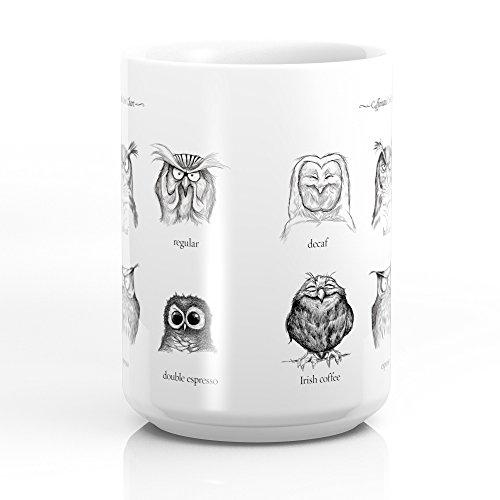 Society6 Caffeinated Owls Mug 15 oz