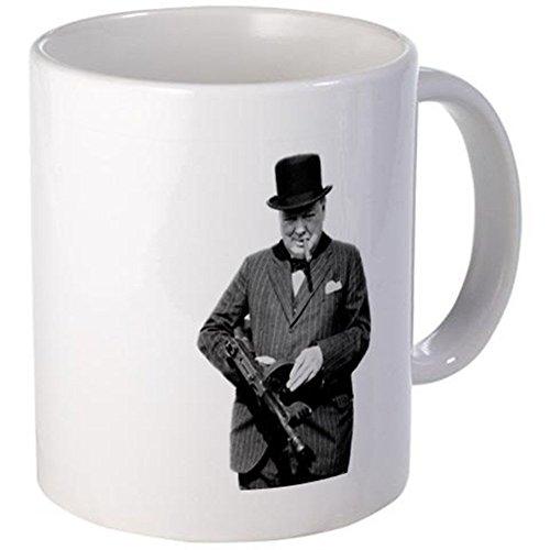 11 ounce Mug - Churchills Tommy Gun Mug - S White