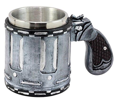 Ebros Gift Western Revolver Gun Pistol Barrel Case Mug Beer Stein Tankard Coffee Cup 675L