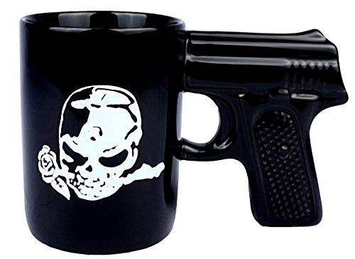 KamiTime Coffee Mugs Gun Mugs Pistol Cup for amazing gift Black Black