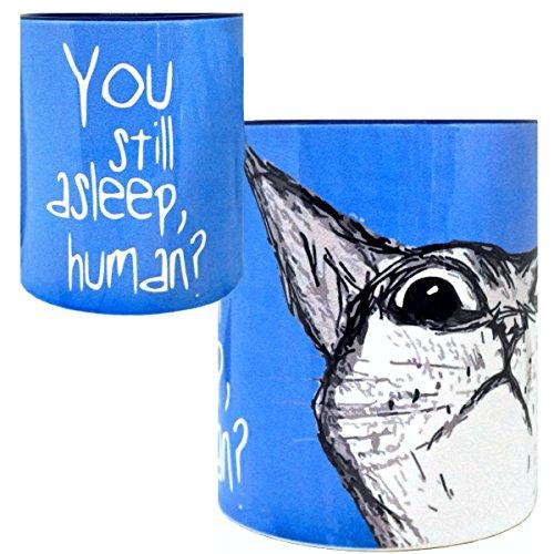 Peeking Cat Mug by Pithitude - One Single 11ozBlue Coffee Cup