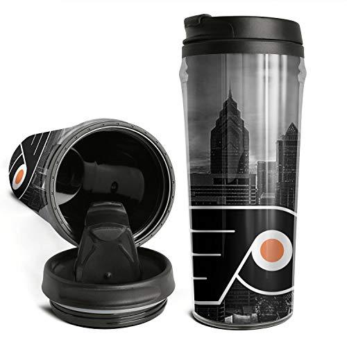 Coffee Mugs Travel ICE-HOCKEY-Philadelphia-Flyers- for Women Men Double Wall Insulated Thermal Travel Mugs 16 Oz