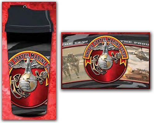 US Marines Corps Thermal Travel Mug