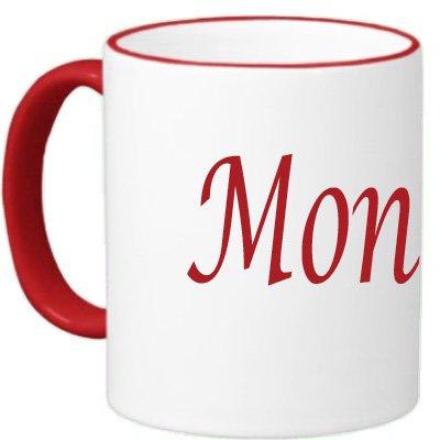 Marvelous Printing Personalized Custom Name Mug Red Trim
