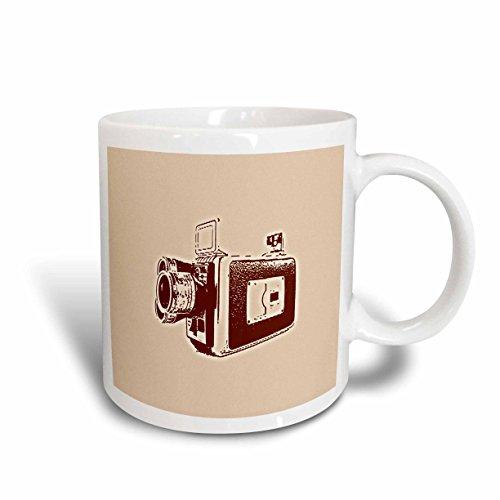 3dRose Picture of a Vintage Super 8 Video Camera Ceramic Mug 11-Ounce