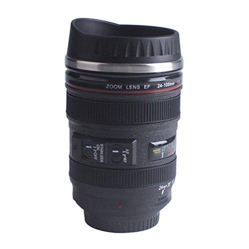 Camera Lens Mug Beinhome Stainless Steel Travel Thermos Camera Lens Coffee Tea Cup Mug Coffee