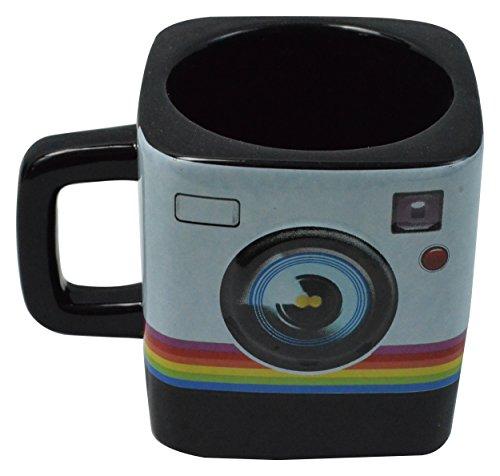 Fairly Odd Novelties FON-10240 Camera Instant Print Style 9oz Coffee Tea Mug Black