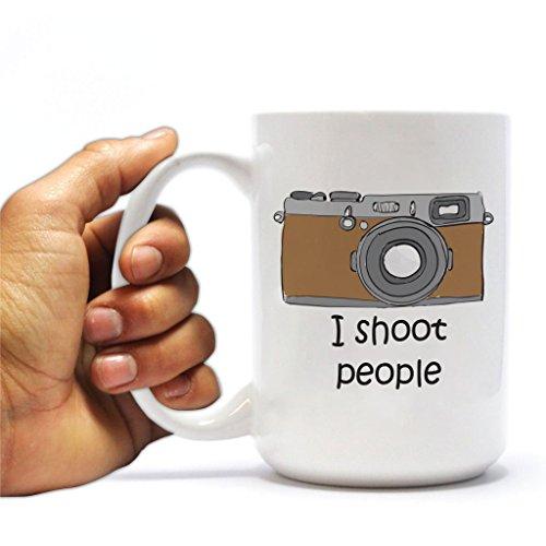 Funny Photographer 15oz Coffee Mug - I Shoot People Camera Design